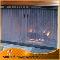 Hanging Couple Security Fireplace Door Mesh