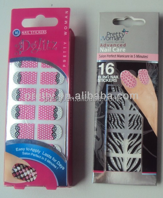 Christmas Nail Art 3d Stick Love Heart Designed Wraps 16pcs Stickers And 1pc