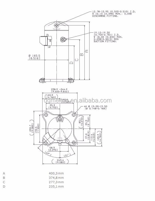 Small Air Compressor Zh Series Copeland Scroll Compressor