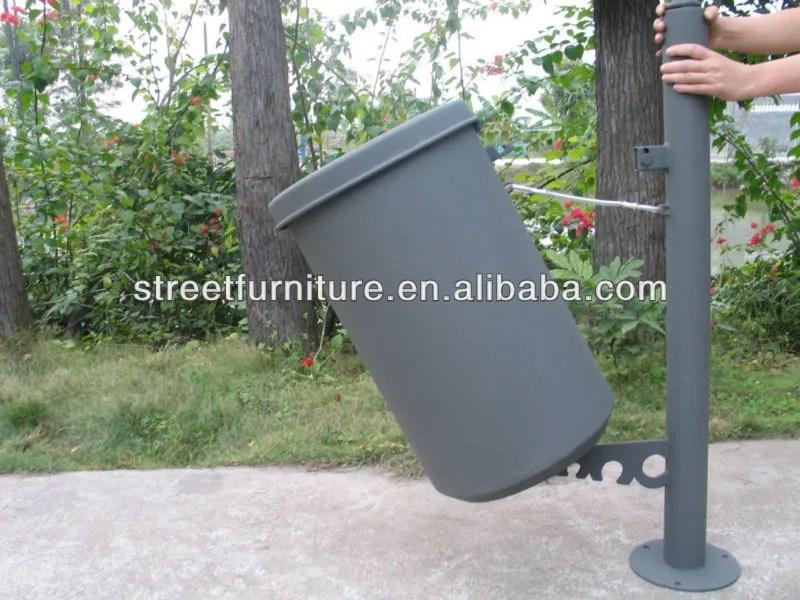 poubelle en fer de haute qualite avec couvercle poubelle metallique conteneurs de dechets en acier livraison gratuite buy fer poubelles conteneurs a