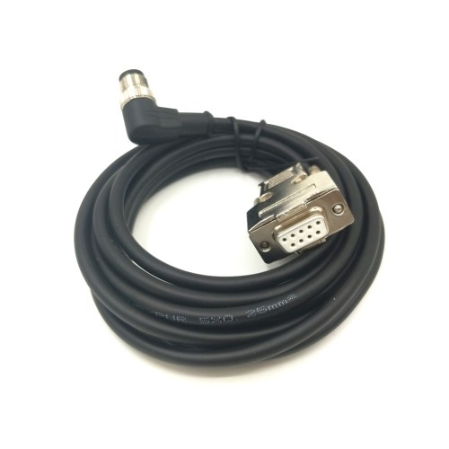 small resolution of ip67 waterproof cable m12 8pin male to stainless steel db9 female overmolded connector