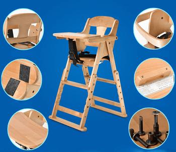 height adjustable high chair baby ergonomic argos wooden feeding highchair footrest multi safety