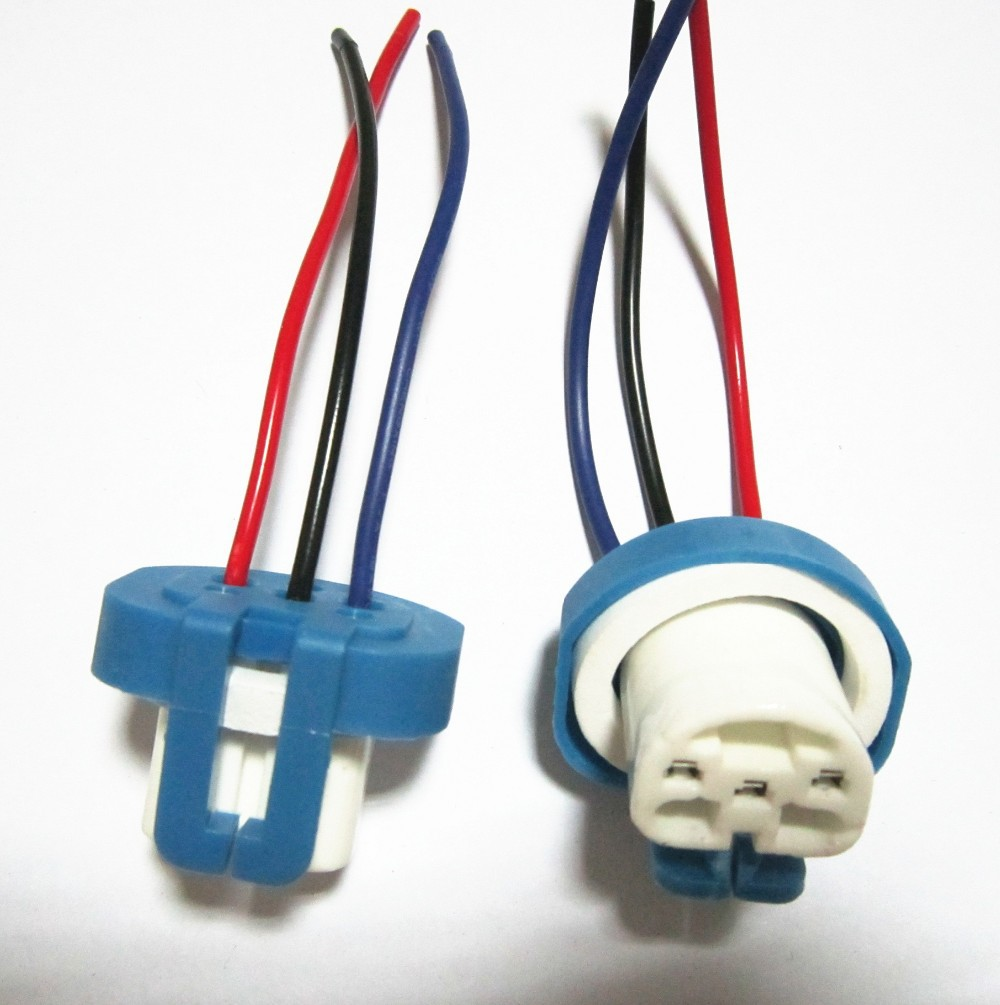 hight resolution of get quotations 10pcs lot 9007 ceramic connector 9007 bulb socket auto lamp base adapters car headlight