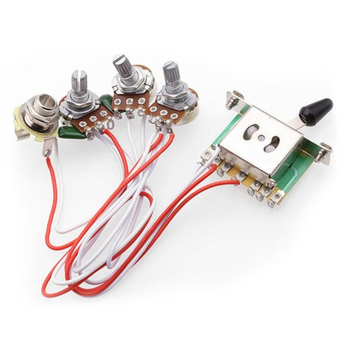 small resolution of buy 5 way switch 500k pots knobs wiring harness pickup for strat guitar wiring harness 1v2t 1 jack 3 500k pots 5 way switch for fender