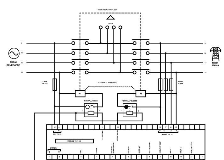 Diesel Engine Generator Control Ats Module Generator