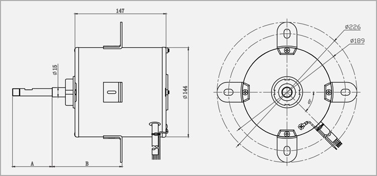 YDK Air Conditioner Outdoor Fan Motor-BRESPALIN