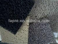 Green Plastic Carpet Pvc Solid Plastic Loop Coil Mats ...