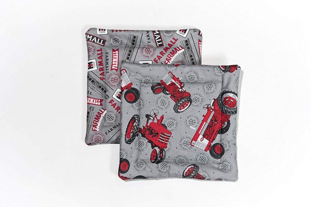 medium resolution of get quotations farmall ih tractor and logo pot holders set of two gray