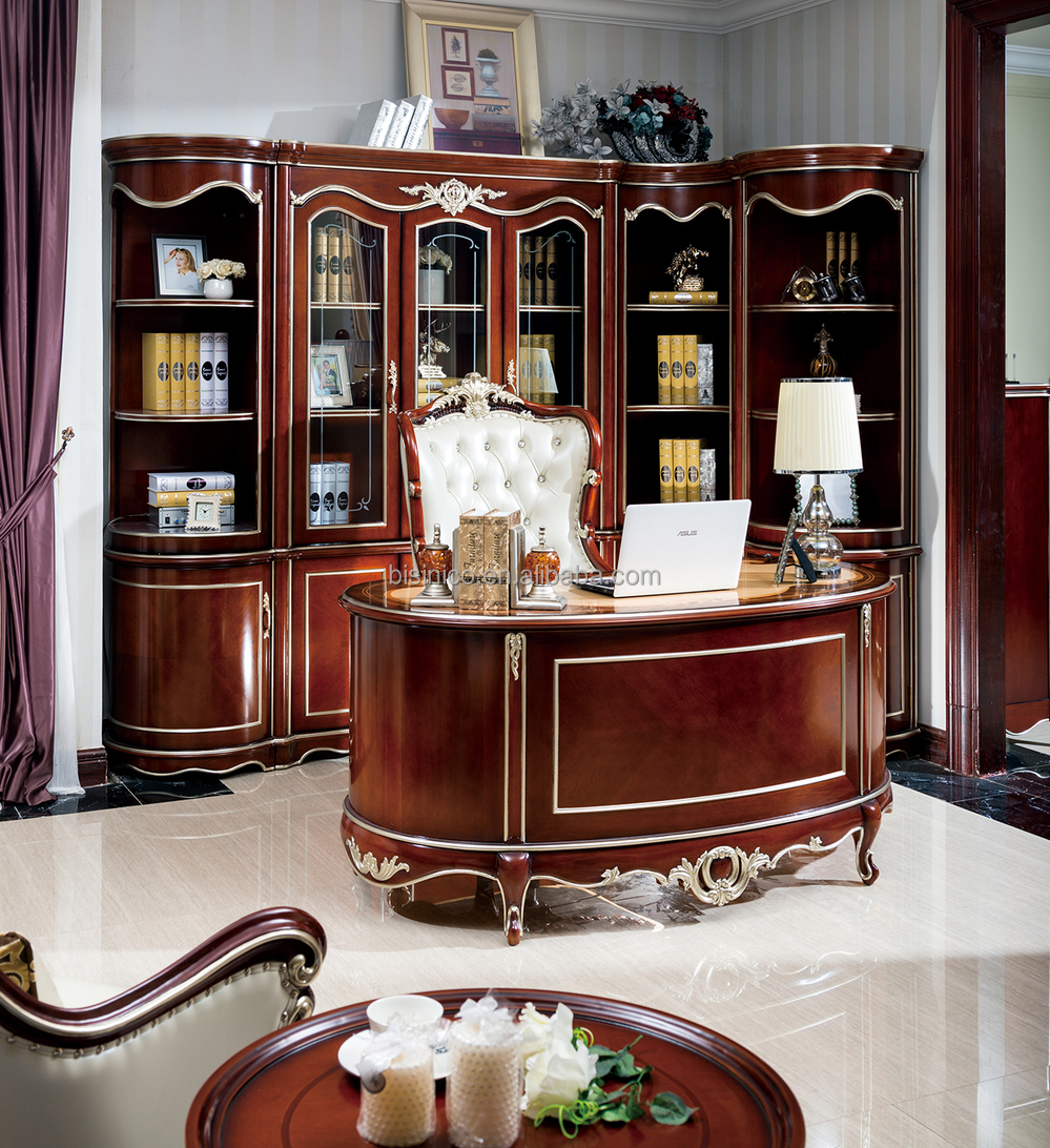 French Baroque Style Luxury Executive Office DeskEuropean
