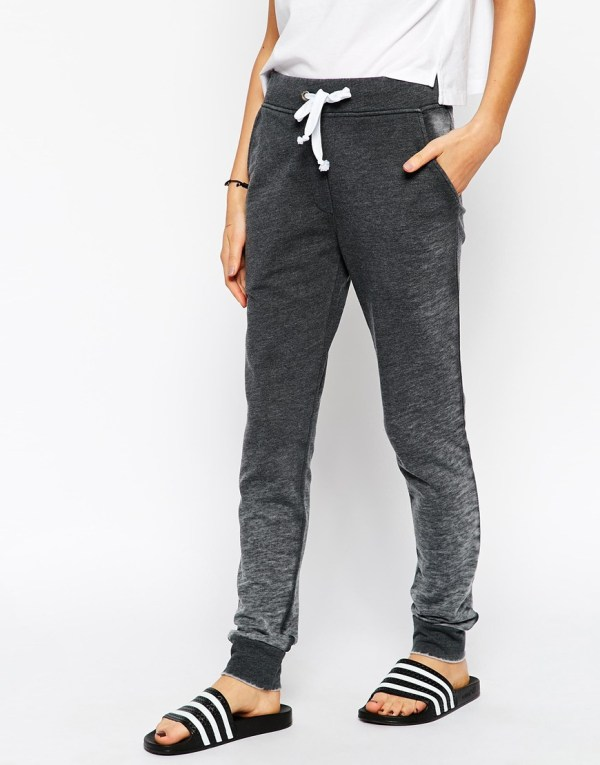2016 Women Grey 100 Cotton Sweatpants Slim Fit Soft - Skinny