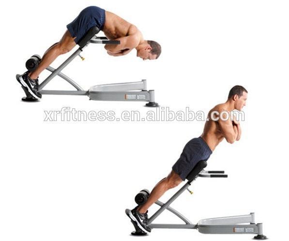 roman chair gym equipment cheap wooden chairs 45 degree back extension fitness machine xw8837