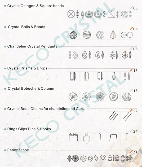 Metal Parts Crystal Chandeliers Keco Provide Accessories For