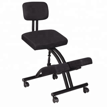 office chair quality cushioned desk steel frame typing ergonomic kneeling fabric