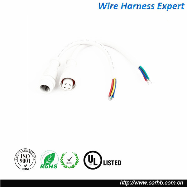 LED Strip 4 Pin Male to Female Waterproof Black Connector