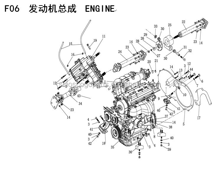 XINYANG 1100CC GEAR BOX, DIFF, TRASMISSION, ROUTE BUGGY