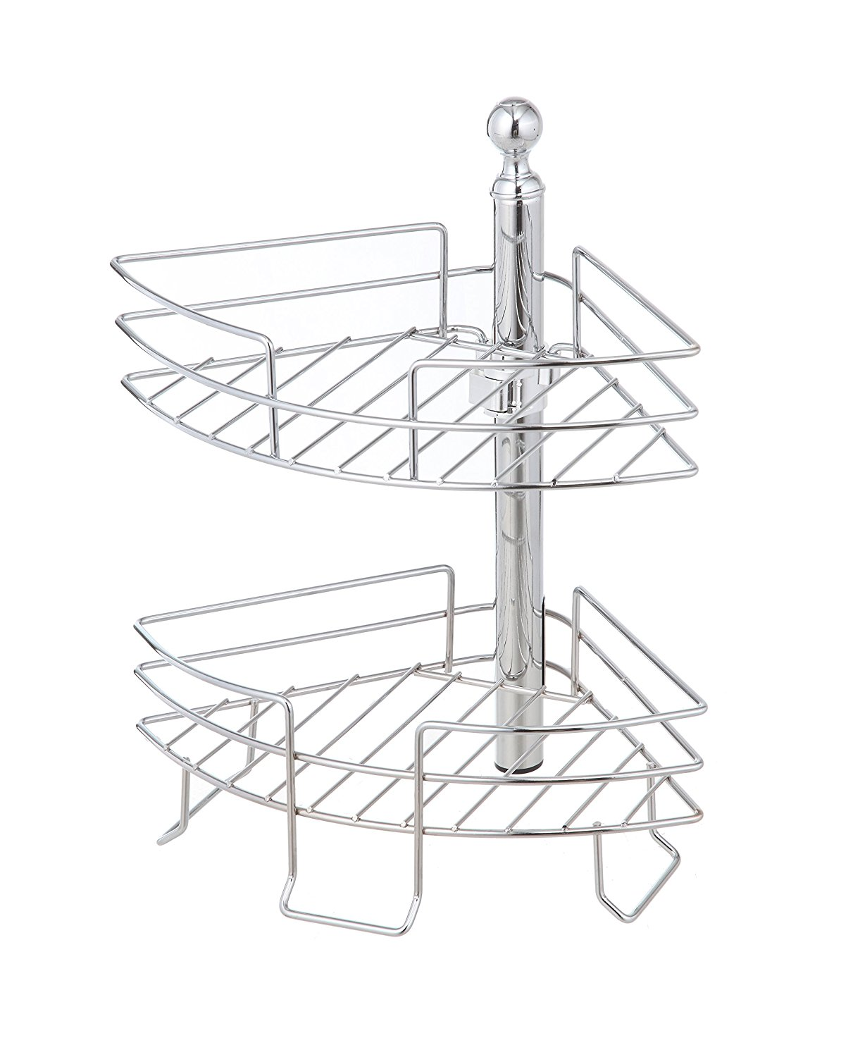 Buy HomeZone 2 Tier Standing Adjustable Wire Caddy, Satin