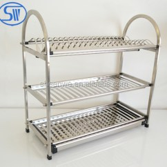 Kitchen Drying Rack Diy Outdoor Made In China 3 Tier Dish Drainer Holder Stainless