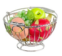 Home & Kitchen Metal Wire Decorative Fruit Basket - Buy ...
