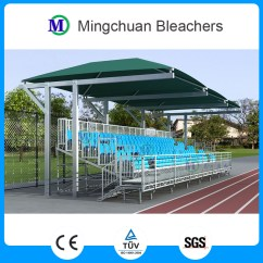 Stadium Chair For Bleachers Office Mat Argos Mctg-201r High Capacity Demountable Grandstand Temporary Metal With Canopy ...