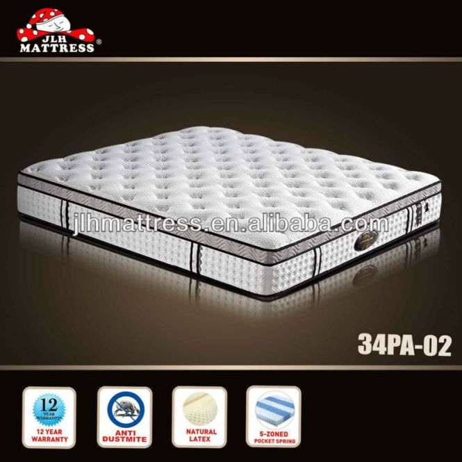 5 Zone Pocket Spring Air Mattress Latex Lmattress Coil Product On