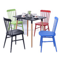 Colorful Antique Metal Dining Windsor Chair