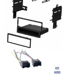 get quotations asc audio car stereo radio install dash kit and wire harness for installing an aftermarket single [ 1200 x 1516 Pixel ]