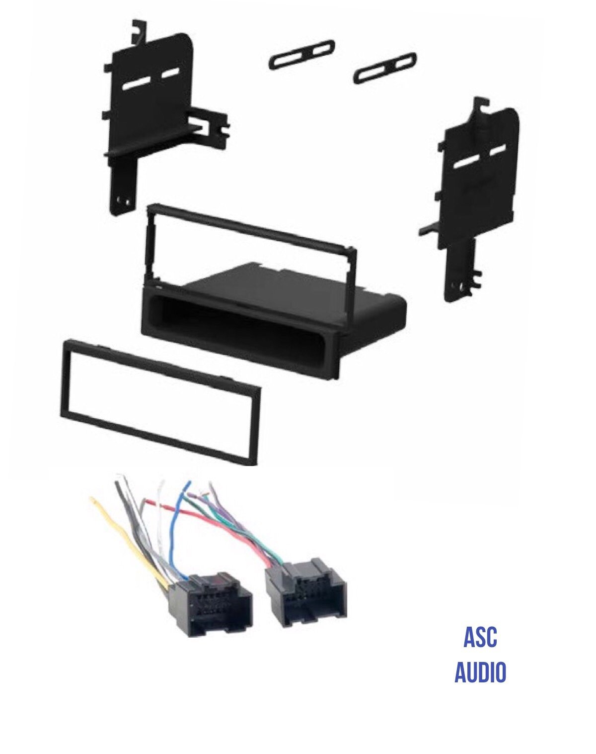 hight resolution of get quotations asc audio car stereo radio install dash kit and wire harness for installing an aftermarket single
