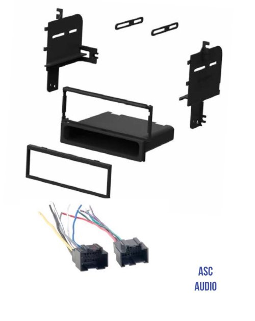 small resolution of get quotations asc audio car stereo radio install dash kit and wire harness for installing an aftermarket single