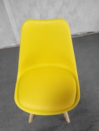 Factory Price Cheap Colorful Modern Plastic Chair Wood ...