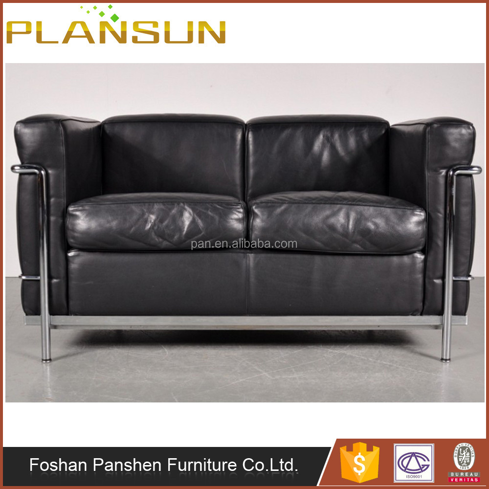 lc3 sofa best l shaped uk european style le corbusier grand confort leather replica seating for 2