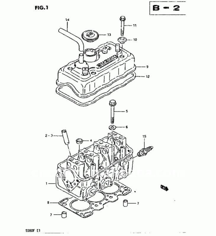 Suzuki st308, St90, MARUTI800, Mehran culata 11110-78402