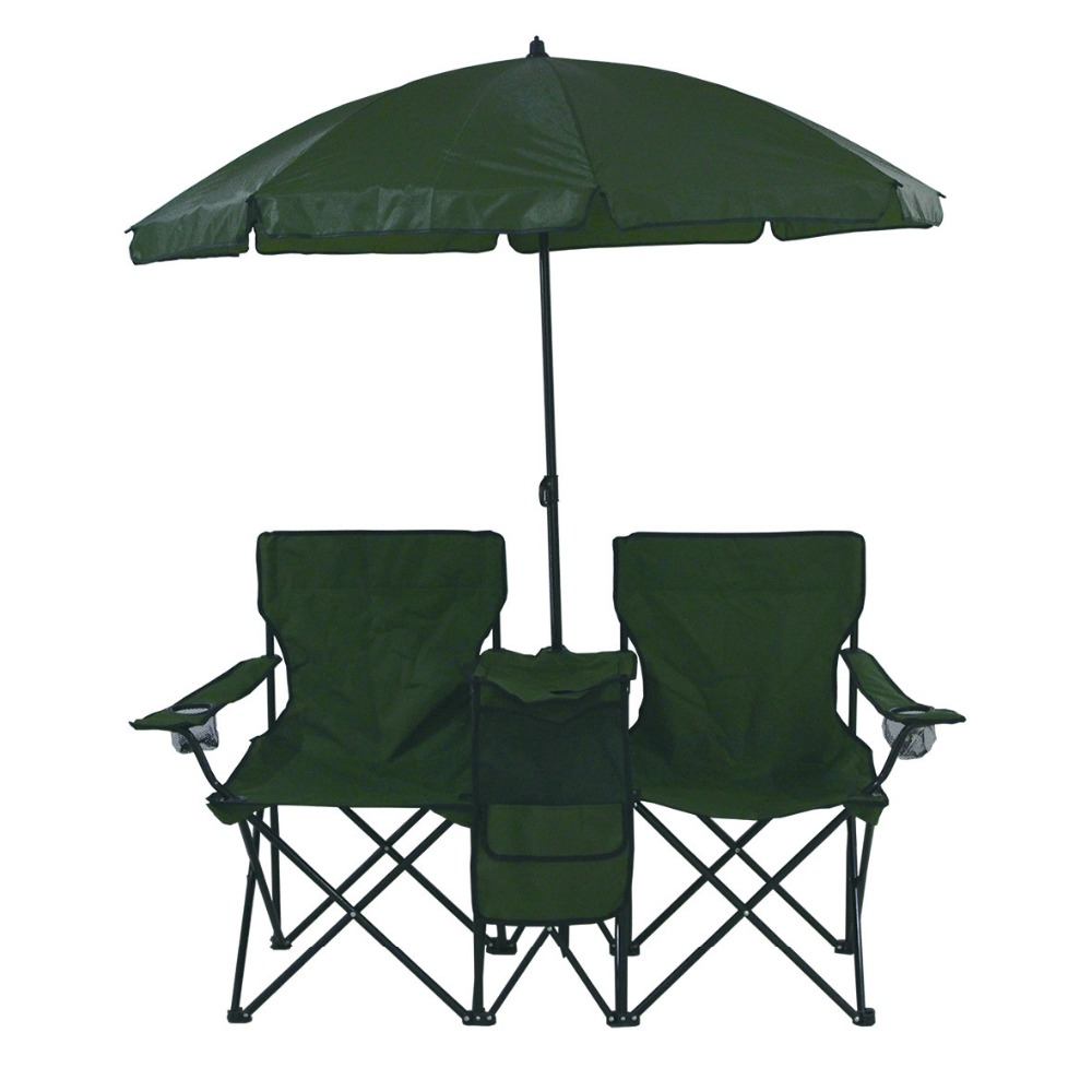 Chair With Umbrella Portable Picnic Double Folding Chair With Umbrella And Cooler Buy Folding Chair Double Folding Chair With Umbrella Double Folding Chair With Cooler