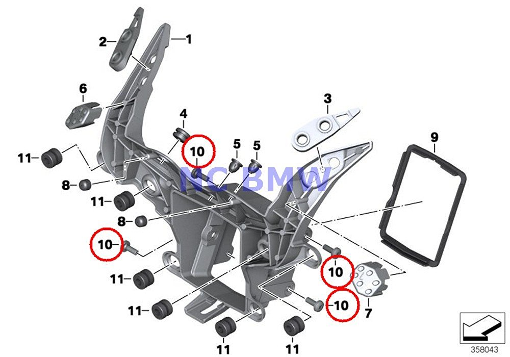 Buy 2 X BMW Genuine Motorcycle Torx Screw M6X16-ZNNIV SI
