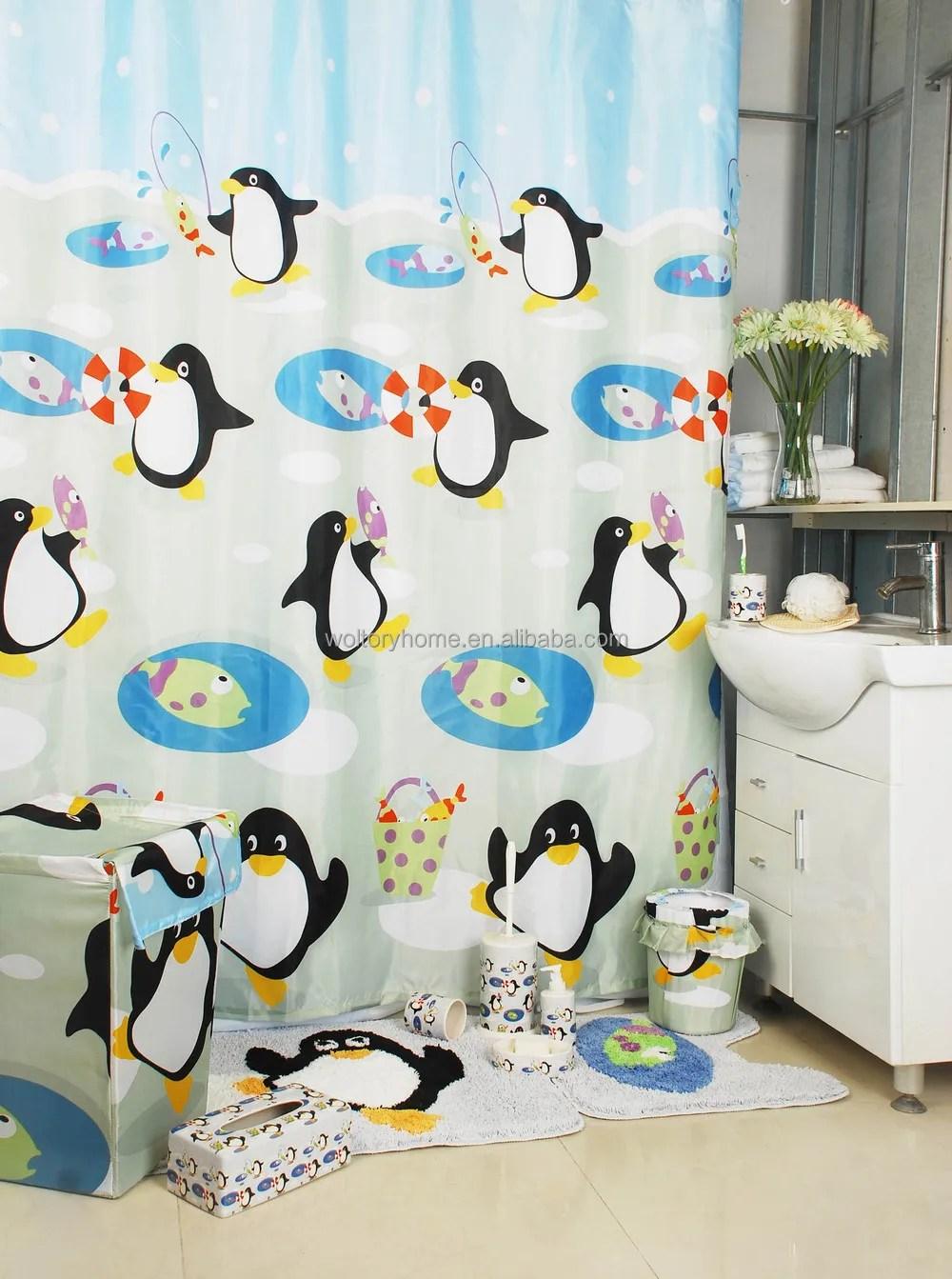 bathroom products bath set penguin bathroom set shower curtain with bath rug sets buy bathroom products bath set penguin bathroom set shower curtain