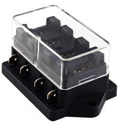 universal car truck 4 way circuit standard blade fuse box block holder 12v 24v [ 1000 x 1000 Pixel ]