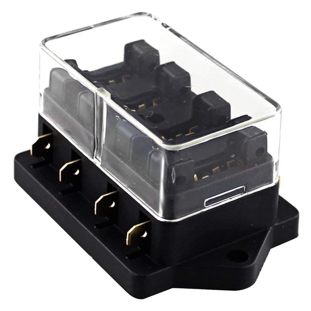 hight resolution of universal car truck 4 way circuit standard blade fuse box block holder 12v 24v