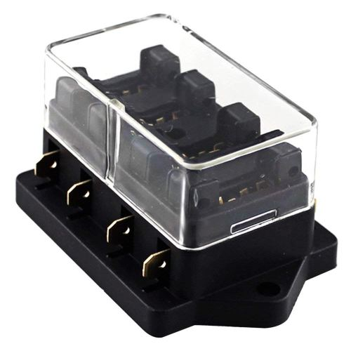 small resolution of universal car truck 4 way circuit standard blade fuse box block holder 12v 24v