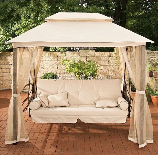 chair steel folding covers for sale luxury indian style hanging adults with double canopy outdoor swing bed - buy ...