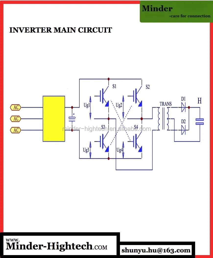 hight resolution of high frequency parallel resistance inverter spot welder
