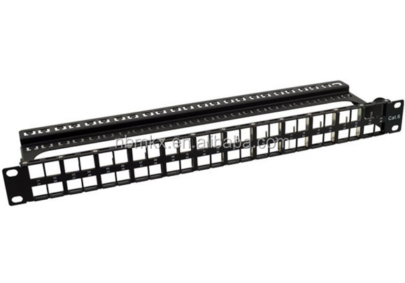19inch 1u Blank Empty 48 Port Patch Panel For Ftp Cat6a
