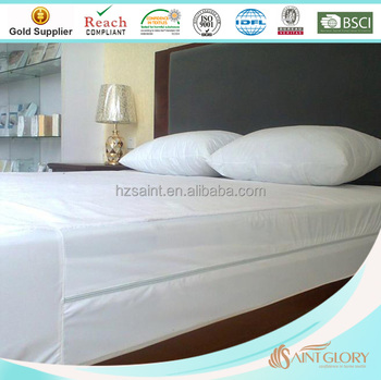 Fully Encased Mattress Protector Waterproof Layer Encat Soft Cover With Zipper