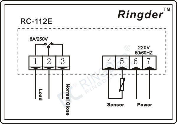 RC-112E Temperature Controller, View Temperature