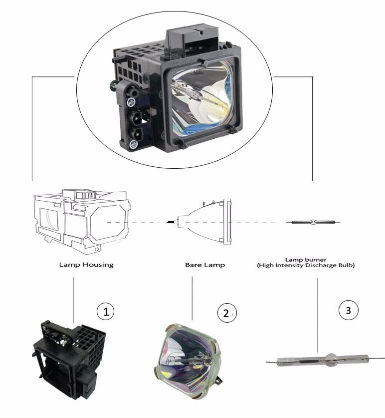 Baco Dp2k-10s Cinema Projector Lamp Bulb Xbo 2200w Dhp