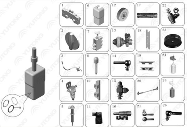 bus parts pneumatic door actuators emergency switch for