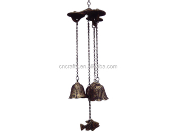 Japanese Furin Round Bell&small Fish Wind Chime,Cast Iron