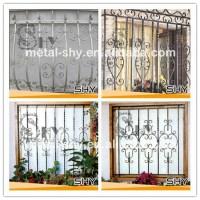 Decorative Square Wrought Iron Window Decor