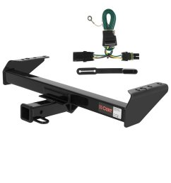 curt class 3 trailer hitch bundle with wiring for chevrolet gmc pickup 13028  [ 1024 x 1024 Pixel ]