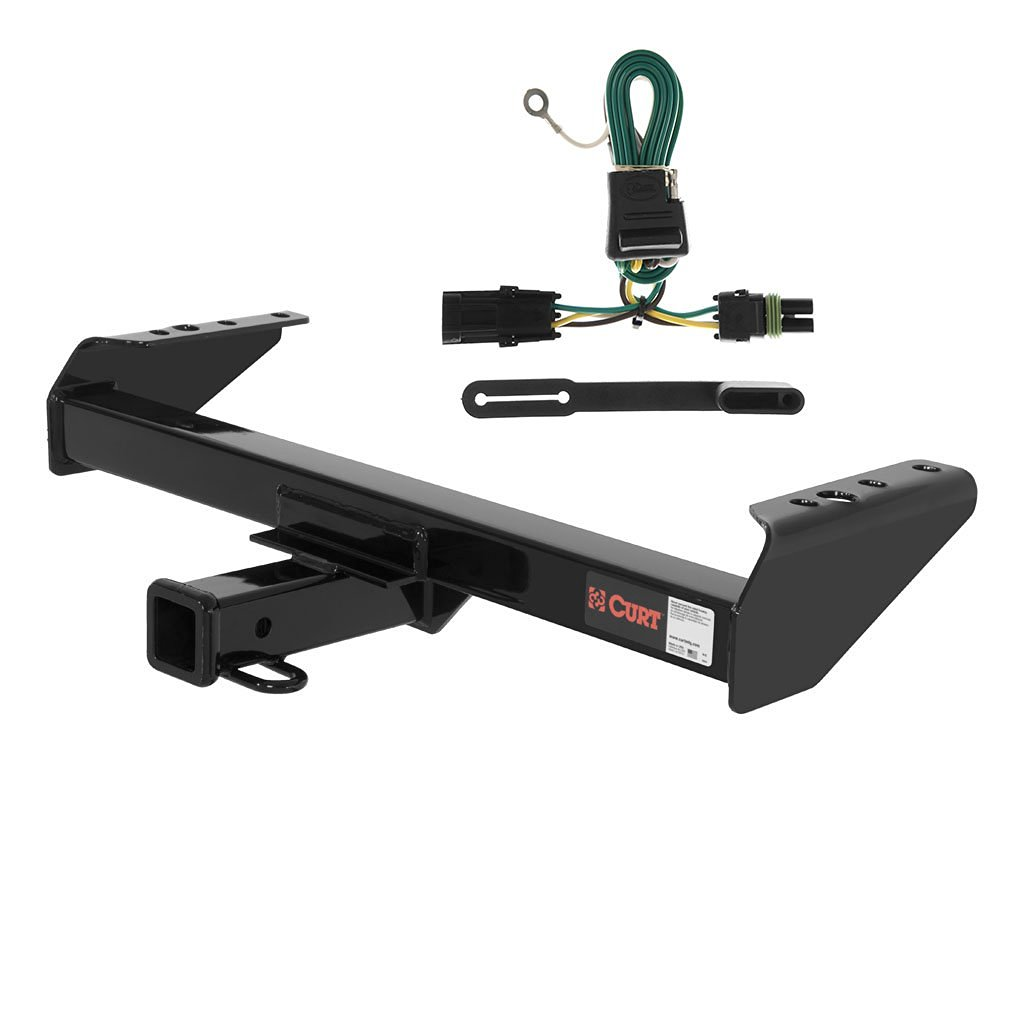 hight resolution of curt class 3 trailer hitch bundle with wiring for chevrolet gmc pickup 13028