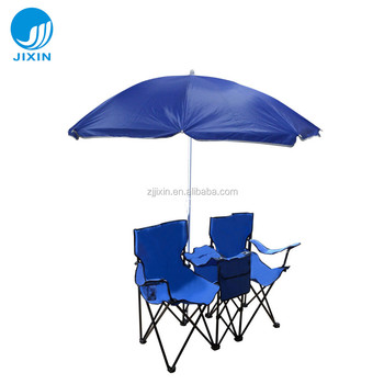 double seat folding chair big 5 camping chairs outdoor with umbrella buy