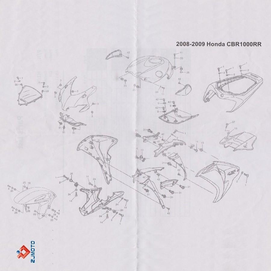 Complete Black Fairing Bolts Kit Screws For 2008-2012